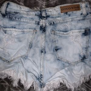 High wasted jean shorts size 24